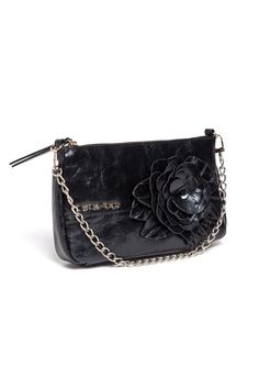 TWIN-SET Simona Barbieri: Clutch bag leatherette with floral appliqué