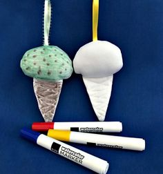 Ice Cream Cone To Color  Stuffed Toys  Washable by ColorMeToys