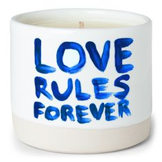 LOVE RULES FOREVER Scented Candle Blue