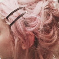 Pink hair and sparkly Bobby Pins!