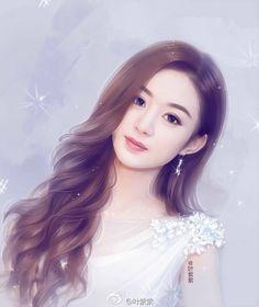 Digital Art Girl, Digital Portrait, Korean Art, Asian Art, Lovely Girl Image, Beautiful Fantasy Art, Painting Of Girl, China Girl, Anime Art Girl