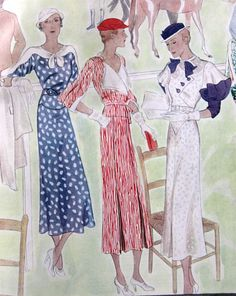 McCall Fashion Book, Mid-Summer 1933 featuring McCall 7366, 7363 and 7357