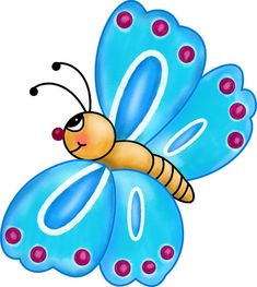 Pics For > Cute Cartoon Butterfly Clipart Cartoon Butterfly, Butterfly Clip Art, Dragonfly Art, Cute Clipart, Beautiful Butterflies, Cute Cartoon, Rock Art, Cute Art, Painted Rocks