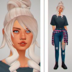 sim request for - i hope its close enough to what you asked dl (sfs) - cc under cut [[MORE]]skin overlay / nose mask / lip preset / arm slider / breast slider / scar / eyebags / eyebrows / nose ring / lip gloss / eyeliner /. Sims Four, Sims 4 Mm, My Sims, Maxis, Sims 4 Characters, Sims4 Clothes, Sims 4 Cc Skin, Nose Mask, 5sos