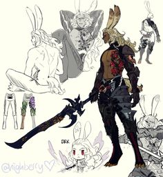 Twitter Fantasy Character Design, Character Design Inspiration, Character Concept, Character Art, Concept Art, Final Fantasy Artwork, Final Fantasy Xiv, Viera Final Fantasy, Fantasy Characters