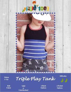 Triple Play Tank Kids – Pickle Toes Patterns