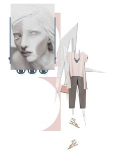 """fractured"" by cloud-walker ❤ liked on Polyvore featuring Ek Thongprasert, Miu Miu, Sara Battaglia, women's clothing, women's fashion, women, female, woman, misses and juniors"