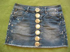 Miniröcke - *Jeans-Rock* White-Flag - ein Designerstück von Glanzknopf bei DaWanda