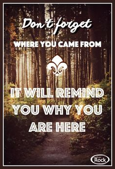 Where did God's grace find you? Remember where you came from.