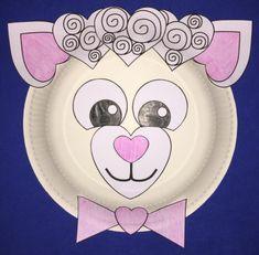 heart lamb paper plate craft