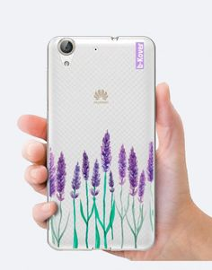 funda-movil-lavanda-flor Phone Cases, Watercolor, Collection, See Through, Lavender Flowers, Mobile Cases, Pen And Wash, Watercolor Painting, Watercolour