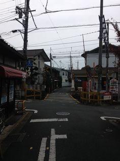 Japanese streets// Part 5 京都の踏切 Kyoto suburbs www.candyflossoverkill.com