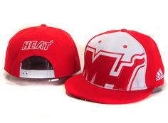 NBA MIAMI HEARTER SNAPBACK Adidas Red 503! Only $8.90USD