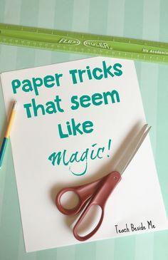 SUPER fun paper tricks for kids that will seem like magic!