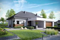 Wizualizacja CPT Koncept 31 CE House Roof, My House, Best Home Plans, Design Exterior, Custom Built Homes, New House Plans, Contemporary Architecture, Planer, Sweet Home