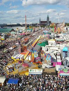 Oktoberfest begins in September and continues into October. Oktoberfest in Munich is the world's largest fair with 6 million visitors.