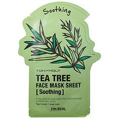 What it is:A set of two individually wrapped tea tree-infused sheet masks that transform dull, tired skin into healthier-looking, moisturized skin in as little as 20 minutes.What it is formulated to do:Known as an effective, natural anti-inflammatory