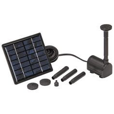 Solar Powered Fountain Pump for DIY swamp cooler. Good to know I can buy this Diy Swamp Cooler, Solar Powered Fountain Pump, Water Features In The Garden, Garden Fountains, Patio Fountain, Water Fountains, Solar Water, Alternative Energy, Outdoor Projects
