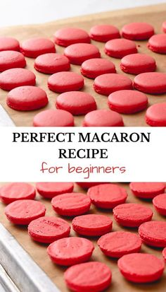 French Macaroon Recipes, French Macaroons, Basic French Macaron Recipe, Easy Macaron Recipe For Beginners, Baking For Beginners, French Dessert Recipes, Macaroon Cookies, Recipe For Macaroons, Food Cakes