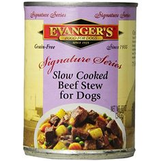 EVANGER'S 776295 12-Pack Sig Series Grain Free Slow Cooked Beef Stew for Dogs, 12-Ounce --- If you want to know more, click on the image. (This is an affiliate link and I receive a commission for the sales)