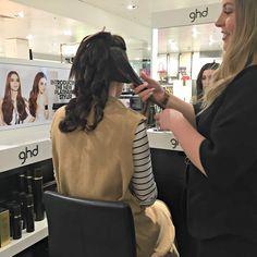 GHD hair styling
