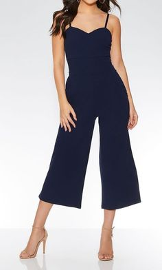 0e8456fa8382 GORG QUIZ MIDNIGHT BLUE STRAPPY CULOTTES JUMPSUIT SIZE 6 XMAS PARTY   fashion  clothing