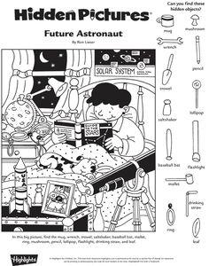 Future Astronaut Hidden Pictures Puzzle
