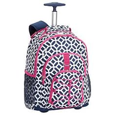 Gear Up Peyton Rolling Backpack Maggie T Book Bags