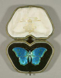 Brooch in Original Case  Child & Child  London, England, 1890-1901  Silver, enamel  H. 1 3/8, W. 2 ½, D. 3/8 in.