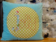 A modern Christmas - Jolly Pillow | I wanted to make a moder… | Flickr