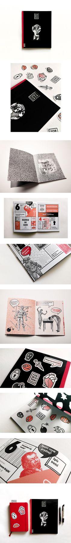 Katarzyna Wieteska - Layout and editorial design of Forbidden Books Magazine created at Editorial And Typography Design Studio of prof. Sławomir Kosmynka at Academy of Fine Arts in Łódź.  #magazine #cover #editorial #layout #design