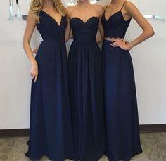 20 Amazing Navy Blue Bridesmaid Dress Ideas: #9. Midnight bridesmaid dresses in various styles