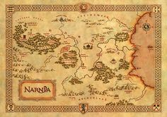The Chronicles of Narnia Map, Narnia Map Art Big Tiled Print Poster, Various sizes from A3