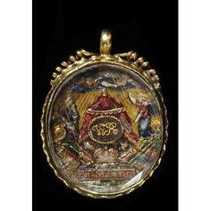 Rock Crystal Pendant commemorating the Death of William III, circa 1702 Enamel Jewelry, Crystal Jewelry, Jewelry Art, Antique Jewelry, Vintage Jewelry, Crystal Pendant, Jewellery, House Of Stuart, Stuart Crystal