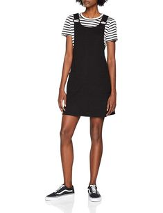11f25f0faa949 New Look Women's Stretch Buckle Pinny Dress: Amazon.co.uk: Clothing