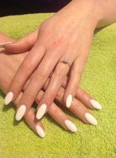 Winter White Oval Nails
