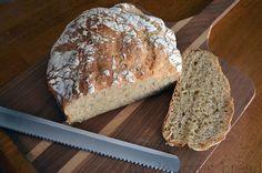 easy no knead multigrain wheat bread