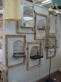 Birdhouses and frames...cool!