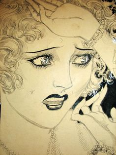 Nell Brinkley. premier woman illustrator of the 1920s. I LOVE HER. <3 Reminds me of the Sailor Moon mangas