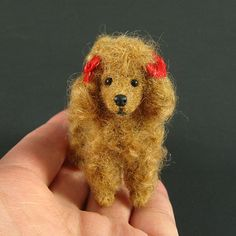 felted dog (expensive 200.00) but pretty