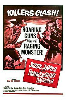 1966 Jesse James vs Frankensteins Daughter USA
