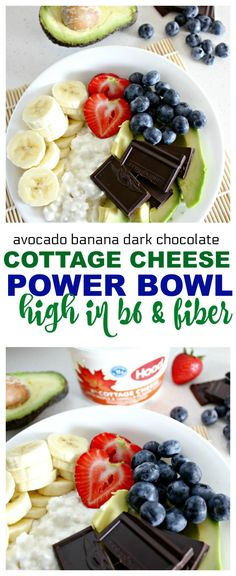 Cottage Cheese Power Bowl with Chocolate, Avocado and Banana via @ellenblogs Have you ever had a cottage cheese power bowl? If you haven't, you are in for a treat! Check out the fantastic flavor combination I created below. A power bowl is a filling dish that is made with a variety of healthy foods. You may have also heard power bowls called Buddha bowls or glory bowls depending on what they contain. ad @hphood