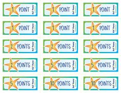 tickets with different point values
