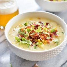 White Bean, Chicken and Corn Chowder is loaded with deliciousness and perfect as the temperatures start to cool down!