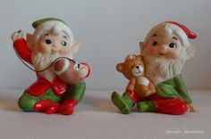 Vintage Christmas Elves Homeco by BerniesBasement on Etsy, $8.00