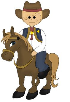 Cowboy on a horse from MyCuteGraphics | Western Clip Art ...