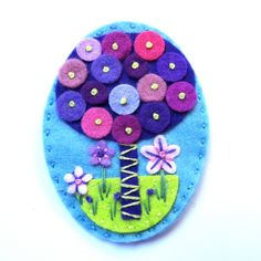 TREE+felt+brooch+pin+with+freeform+embroidery++by+designedbyjane,+£15.00
