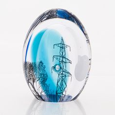 "ELLA VARVIO - 'Graal' glass sculpture ""Suburban Nocturne"" unique, executed at Riihimäki, Finland. Glass Design, Design Art, All Themes, Panel Art, Art For Kids, Retro Vintage, Contemporary Art, Glass Vase, Sculpture"