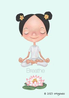 Yoga Breathe by SPrestonIllustration on Etsy All New Designer Handbags, Bags, and Purses here! Pranayama, Fitness Inspiration, Yoga Inspiration, Chakra Meditation, Mindfulness Meditation, Namaste, Hata Yoga, Yoga Cartoon, Yoga Illustration
