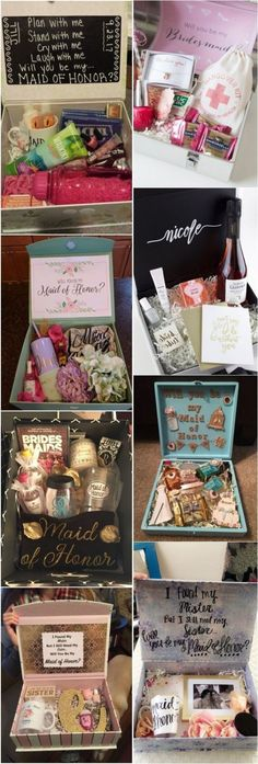 Wedding Gifts Diy 20 Maid of Honor Proposal Ideas! She loved it and said YES! Gifts For Wedding Party, Fall Wedding, Wedding Favors, Our Wedding, Dream Wedding, Bridesmaid Proposal, Be My Bridesmaid, Bridesmaid Gifts, Bridesmaid Boxes